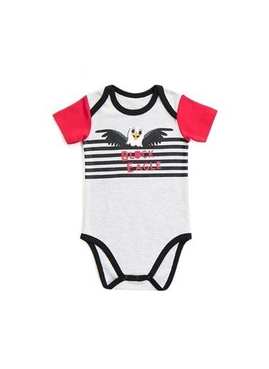 Beşiktaş Beşiktaş Lisanslı Bebek Body Karmelanj Gri